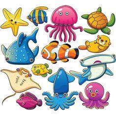 Vivid Marine Animals