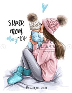 Baby Drawing Illustration Art New Ideas Mother Daughter Art, Mother Art, Mom Son, Daughter Quotes, Love Mom, Mothers Love, Baby Girl Drawing, Mom Drawing, Disney Collection