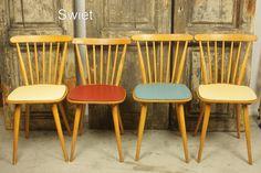 Vintage houten keukenstoelen | Swiet