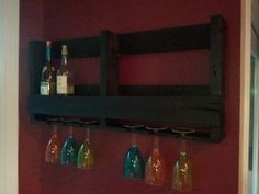Love, love, love this - Recycled Pallet Wine Rack