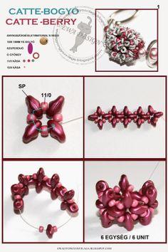 Catte bogyó minta / Catte berry pattern