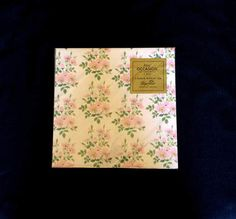 Pink Flowers Gift Wrap  Forget Me Not  Vintage 1960  All