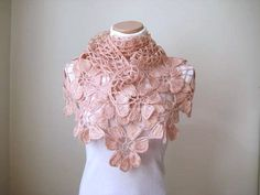 Floral Pale Pink Shawl Blush Powder Pink Flower by beeMAYA