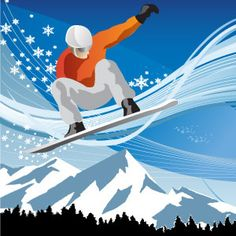 4 Free Vector snowboarding to Download