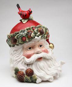 Love this Evergreen Holiday Santa Cookie Jar on #zulily! #zulilyfinds