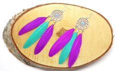 Dreamcatcher earrings,bohemian earrings,boho chic earrings,feather earrings ,boho earrings,gypsy earrings,bohemian jewelry door HipLikeMe op Etsy https://www.etsy.com/nl/listing/264376240/dreamcatcher-earringsbohemian