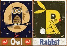 Illustrated letters Alphabet Blocks, Alphabet Crafts, Alphabet Art, Book Crafts, Cute Letters, Book Projects, Illustration Art, Art Illustrations, Pattern Design