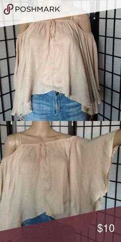 Butterfly shirt Off shoulders; light summer shirt with sleeves; 100% rayon cotton candy Tops Tees - Long Sleeve