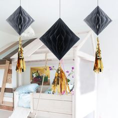 3 Piece Diamond Honeycomb with Tassel Cheap Party Decorations, Birthday Decorations, Wedding Decorations, Paper Crafts Wedding, Festival Party, Streamers, Party Supplies, Backdrops, Black And Grey