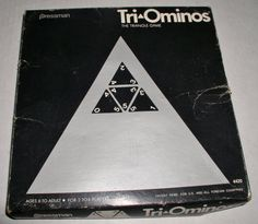 Vintage 1965 TRI-OMINOS The Triangle Game - 1st Release - Vintage Game