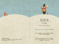 Geboortekaartje Quentin - binnenkant - Pimpelpluis - https://www.facebook.com/pages/Pimpelpluis/188675421305550?ref=hl (#  jongen - beer - konijn - circus - sneeuw - winter - origineel)
