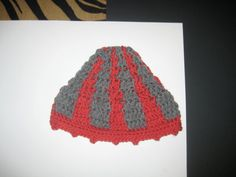 Grey Striped Salmon Kids Winter Hat by CrochetandMacrame on Etsy, $9.99