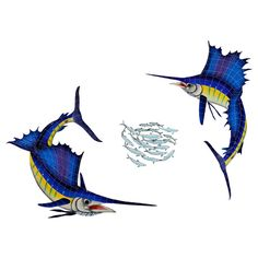 Sailfish Group (1 left, 1 right, 1 FREE bait ball)