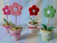 flor de feltro - Pesquisa Google