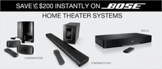 Discover drastically better sound and save up to $200 instantly on #Bose Home Theater Systems!
