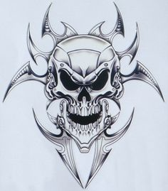 skull with flames adhesive stencils | Pin Decal Skull Decals For Motorcycles Printable Dragon Stencil on ...