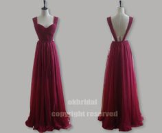 Hey, diesen tollen Etsy-Artikel fand ich bei http://www.etsy.com/listing/127845689/backless-prom-dress-dark-red-dress-red