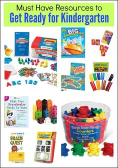 Must Have Resources to Get Ready for Kindergarten | Mess For Less