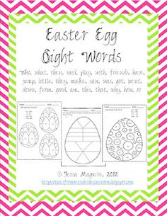 free Color by sight word for eggs