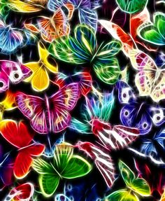 Wallpaper for Nook Tablet – Page 2 – Tattfae's Nook Wallpapers Butterfly Background, Butterfly Wallpaper, Neon Wallpaper, Wallpaper Backgrounds, Wallpapers, Have A Blessed Day, Plant Leaves, Painting, Image