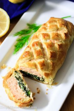 Salmon wellington I read the post, it is great I can't get this wrong. Easy, impressive & the ingredients are delish.(bh)