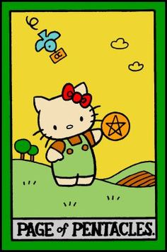 Page of Pentacles, Hello Kitty Tarot