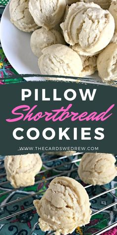 Take your shortbread cookies up a notch by making them into light and fluffy Pillow Shortbread Cookies! These are perfect for the holidays! Fluffy Pillows, Desserts To Make, Shortbread Cookies, Yummy Food, Baking, Holiday, Recipes, Bread Making, Vacations
