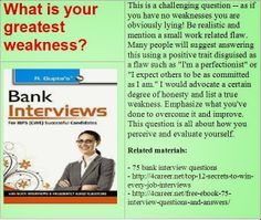 Related materials: 75 bank interview questions. Ebook: interviewquestionsebooks.com/download/UltimateGuideToJobInterviewAnswers