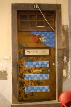 Door with heart beat.