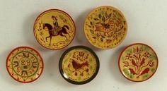 Miniature pottery by Jane Graber Antique Dollhouse, Dollhouse Miniatures, Tiny World, Tiny Treasures, Tea Pots, Decorative Plates, Artisan, Porcelain, Pottery