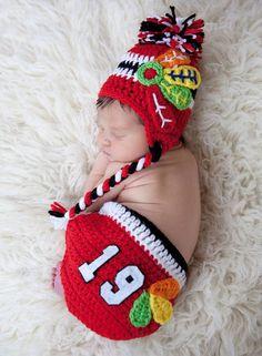 It looks like she is going to be a lifetime #Blackhawks fan!