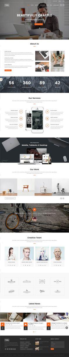 Fekra – Responsive Multi Page/One Page WordPress Theme