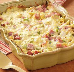 Ham and linguine casserole