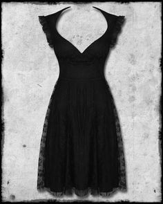 Hell Bunny Black Kitty Lace Goth Steampunk VTG Style Evening Prom Party Dress (If only I had great cleavage to pull this off)