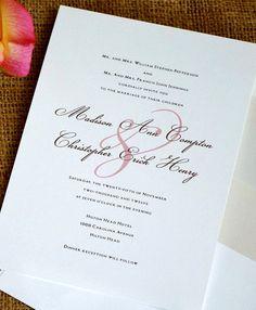 Classic wedding invitation with a modern twist