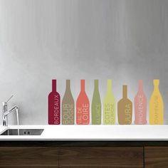 Stickers - Ganumaï - Stickers Bouteilles de vin multicolores