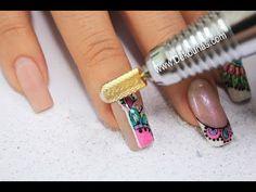 Nail Tutorials, Nail Art Designs, Make Up, Turquoise, Nails, Beauty, Live, Youtube, Work Nails