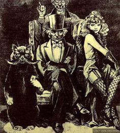Иллюстрации к «Мастеру и Маргарите»: Офорты Виктора Ефименко. Сеанс черной магии (Из триптиха «Черная магия и ее разоблачение»)