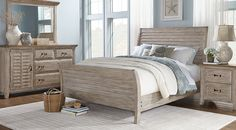 Nantucket Breeze White 5 Pc Queen Sleigh Bedroom