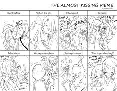 Kalosshipping - almost kissing meme by nabila300 on deviantART