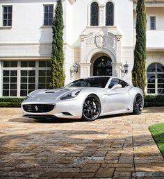Silver Ferrari California #CarFlash
