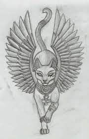 Bastet was the daughter of isis and osiris. Egyptian Goddess Tattoo, Egyptian Cat Tattoos, Egyptian Drawings, Egyptian Cats, Egyptian Symbols, Mayan Symbols, Viking Symbols, Viking Runes, Ancient Symbols