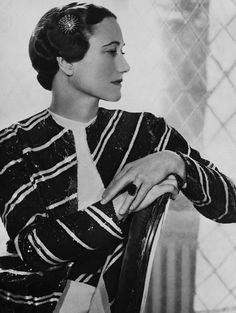 "Wallis Simpson (Bessie Wallis Warfield-Spencer-Simpson) USA wife of King Edward VIII ""David"" (Edward Albert Christian George Andrew Patrick David) Prince of Wales UK, Duke & Duchess of Windsor, Wallis Simpson, Duke And Duchess, Duchess Of Cambridge, Edward Viii, Edward Albert, Queens, Thing 1, Portraits, Fashion Gallery"