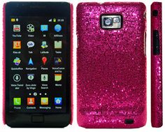 Sparkle Glitter Case/Cover For Samsung Galaxy S2 i9100 - Pink