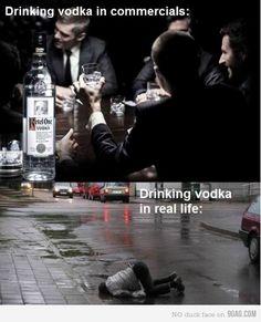 drinking vodka reality
