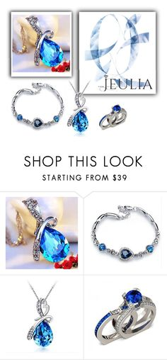 """Jeulia Jewelry - Blue Passion"" by minka-989 ❤ liked on Polyvore featuring Blue, jewelry and jeulia"