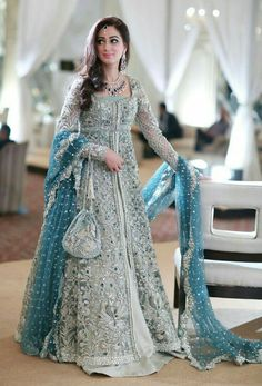 New Pakistani bridal dresses Collection in this post our celebrity dress design team is going to show you some latest and most beloved Pakistani bridal dresses bridal dr… Indian Bridal Lehenga, Indian Bridal Fashion, Indian Gowns, Pakistani Wedding Dresses, Pakistani Gowns, Bridal Anarkali Suits, Latest Wedding Dresses Indian, Lehenga Wedding, Pakistani Couture