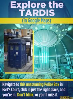 Real Life Easter Eggs Hidden In Plain Sight | Cracked.com Weird World, The Real World, Police Box, Don't Blink, Everything Is Awesome, Tardis, Hanging Out, Gossip, Easter Eggs