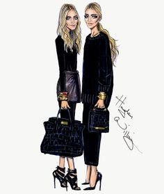 Hayden Williams Fashion Illustrations: Happy Birthday Mary-Kate  Ashley by Hayden Williams