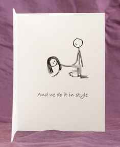 Funny Mature Adult Dirty Naughty Cute Love Greeting Card for birthday, valentines, anniversary - in style